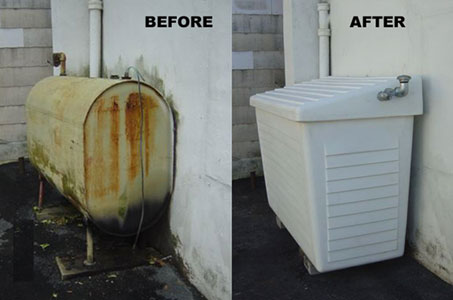 oil solutions before after tank containment